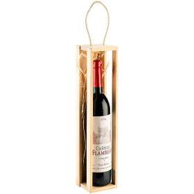 Kerze als Weinflasche