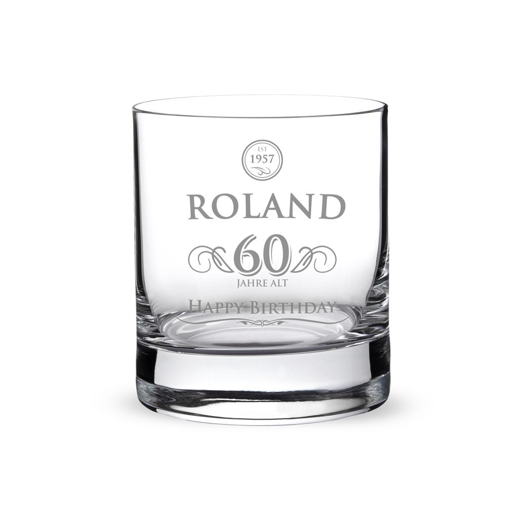 Whiskyglas mit Gravur - Elegant - Zum Geburtstag