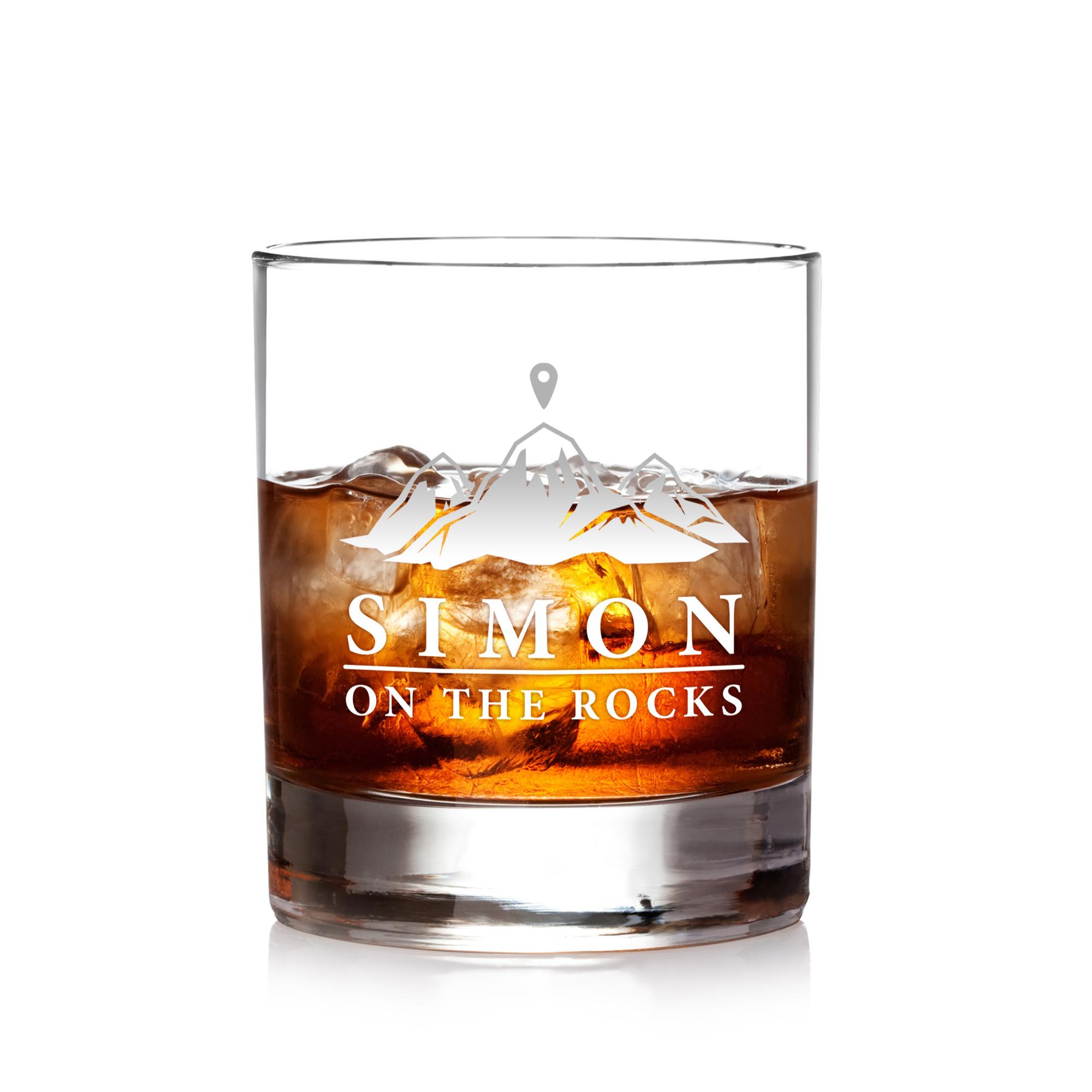 Whiskyglas - On the Rocks - Personalisiert