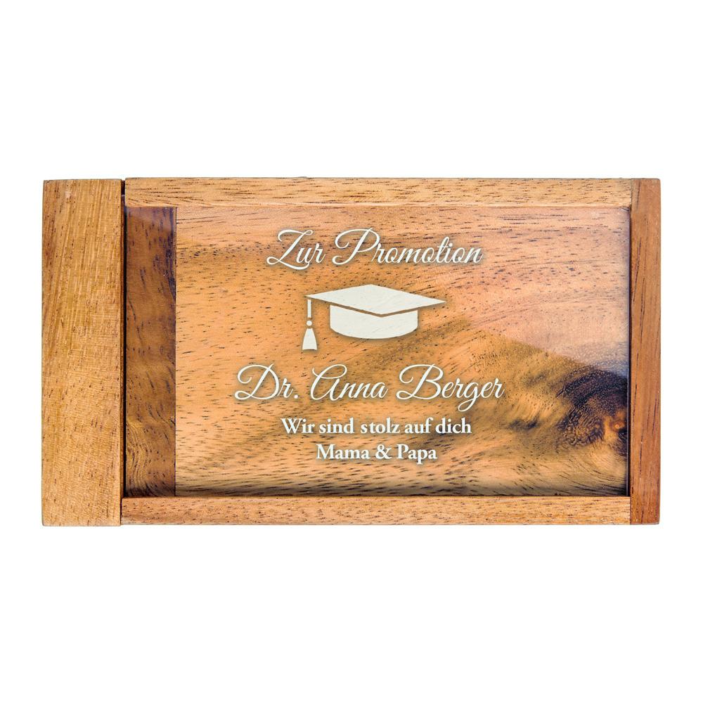 Geldgeschenkbox zur Promotion - Personalisiert