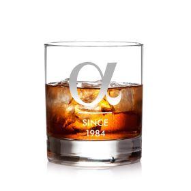 Graviertes Whiskyglas - Alpha - Personalisiert