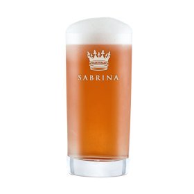 Craft Bier Glas mit Gravur - Krone