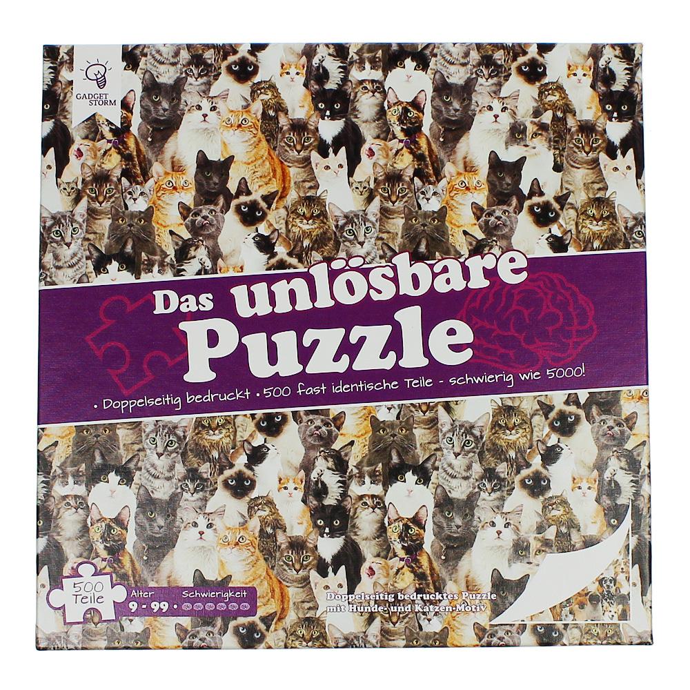 Unlösbares Puzzle - Katzen und Hunde