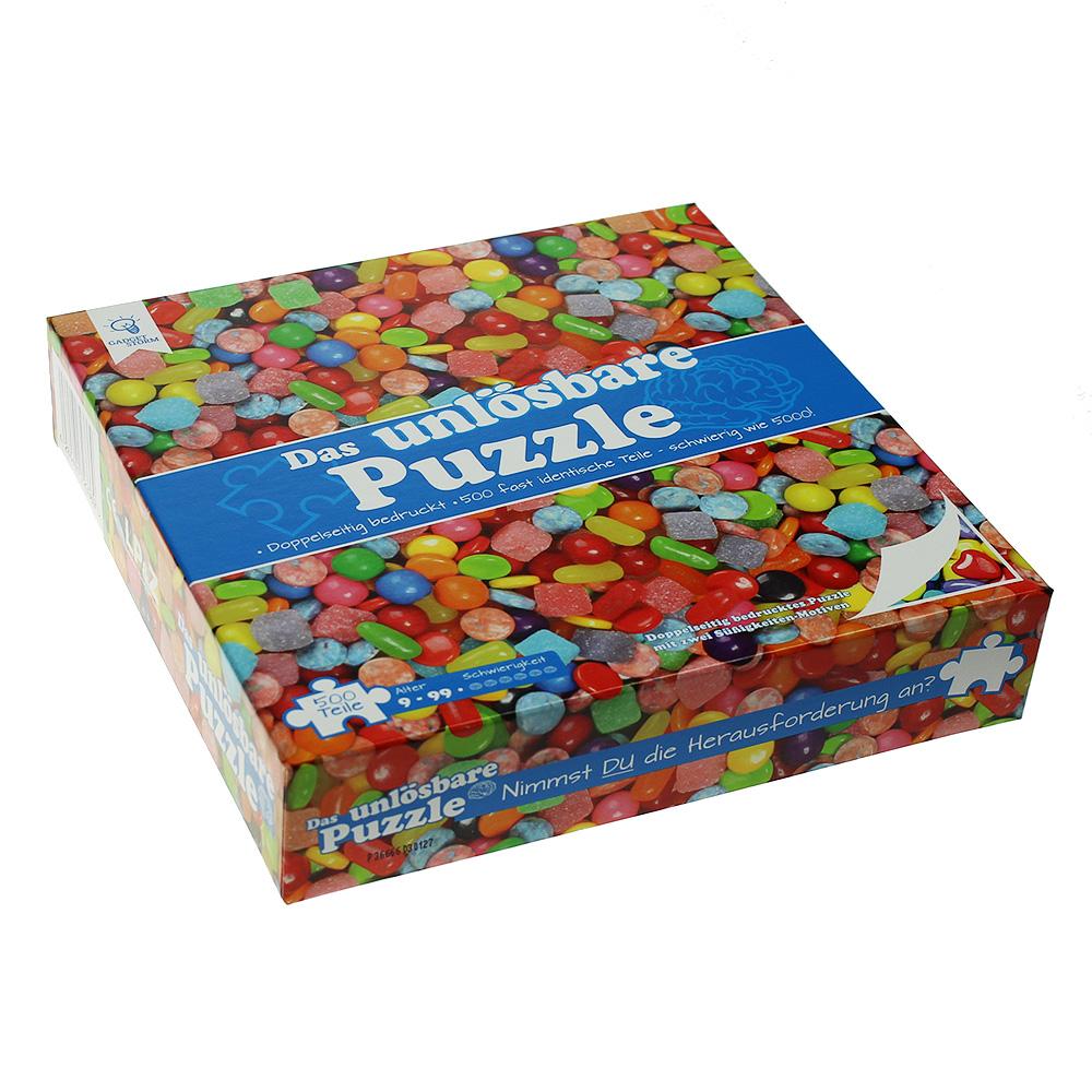 Unlösbares Puzzle - Bonbons und Süßigkeiten